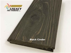 Prefinished Cypress Tongue And Groove Nickel Gap Siding - Black Cinder