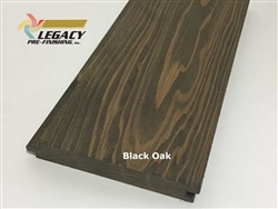 Prefinished Cypress Tongue And Groove Nickel Gap Siding - Black Oak