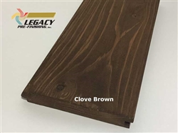 Prefinished Cypress Tongue And Groove Nickel Gap Siding - Clove Brown