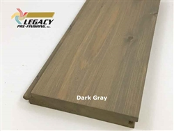 Prefinished Cypress Tongue And Groove Nickel Gap Siding - Dark Gray