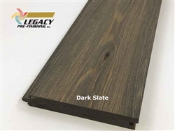 Prefinished Cypress Tongue And Groove Nickel Gap Siding - Dark Slate