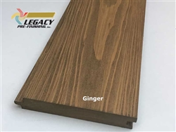Prefinished Cypress Tongue And Groove Nickel Gap Siding - Ginger Stain