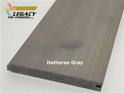 Prefinished Cypress Tongue And Groove Nickel Gap Siding - Hatteras Gray