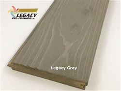 Prefinished Cypress Tongue And Groove Nickel Gap Siding - Legacy Gray