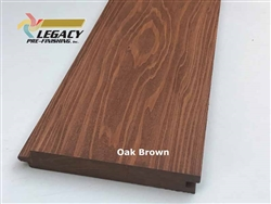 Prefinished Cypress Tongue And Groove Nickel Gap Siding - Oak Brown Stain