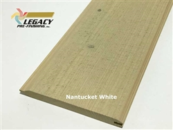 Prefinished Cypress Tongue And Groove Siding - Nantucket White