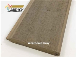 Prefinished Cypress Tongue And Groove Siding - Weathered Gray