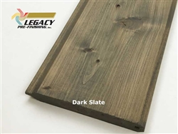 Prefinished Cypress Tongue And Groove Siding V-Joint - Dark Slate Stain