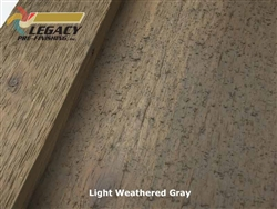Prefinished Cedar Board and Batten Siding - Light Weathered Gray
