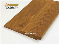 Prefinished Cedar Rabbeted Bevel Siding - Bark Mulch