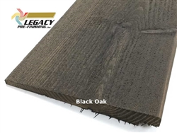 Prefinished Cedar Rabbeted Bevel Siding - Black Oak Stain