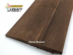 Prefinished Cedar Rabbeted Bevel Siding - Clove Brown Stain