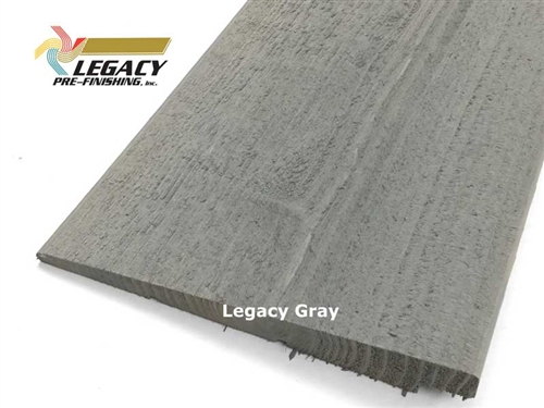Prefinished Cedar Rabbeted Bevel Siding - Legacy Gray Stain