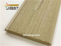 Prefinished Cedar Tongue and Groove Siding - Bleaching Stain