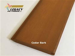 Prefinished Cedar Tongue and Groove Siding - Cedar Bark Stain