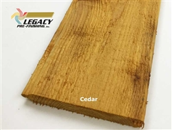Prefinished Cedar Tongue and Groove Siding - Cedar Tone Stain