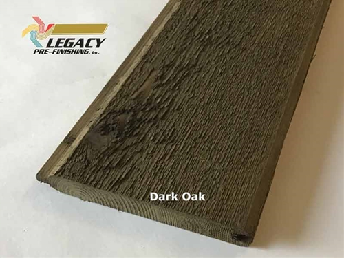 Prefinished Cedar Tongue and Groove Siding - Dark Oak Stain