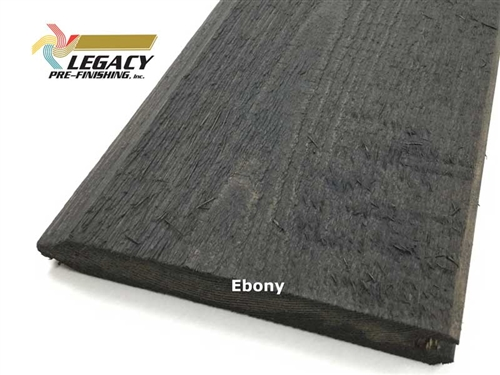 Prefinished Cedar Tongue and Groove Siding - Ebony Stain
