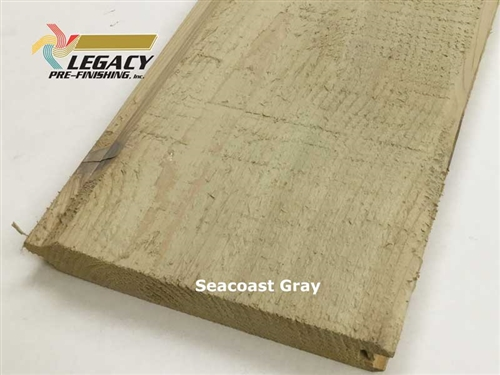 Prefinished Cedar Tongue and Groove Siding - Seacoast Gray Stain