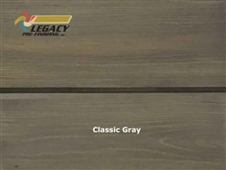 Cypress Prefinished Tongue And Groove V-Joint Boards - Classic Gray