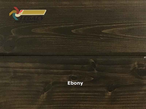 Cypress Prefinished Tongue And Groove V-Joint Boards - Ebony