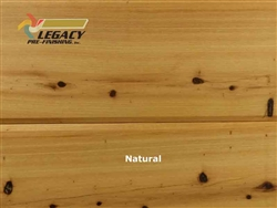 Cypress Prefinished Tongue And Groove V-Joint Boards - Natural Stain