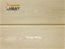 Cypress Prefinished Tongue And Groove V-Joint Boards - Simply White