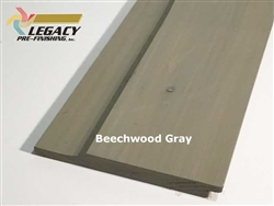 Prefinished Cypress Dutch German Lap Siding - Beechwood Gray Stain
