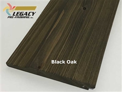Prefinished Cypress Dutch German Lap Siding - Black Oak