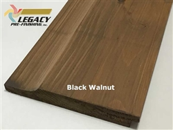 Prefinished Cypress Dutch Lap Siding - Black Walnut