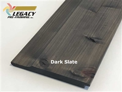 Prefinished Cypress Dutch German Lap Siding - Dark Slate Stain
