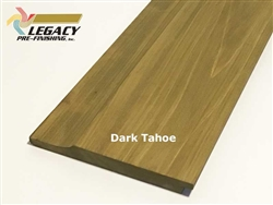 Prefinished Cypress Dutch German Lap Siding - Dark Tahoe Stain