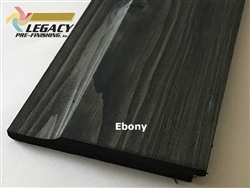 Prefinished Cypress Dutch German Lap Siding - Ebony Stain