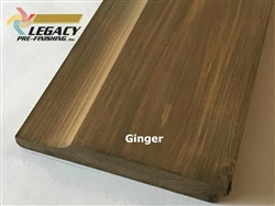Prefinished Cypress Dutch German Lap Siding - Ginger Stain