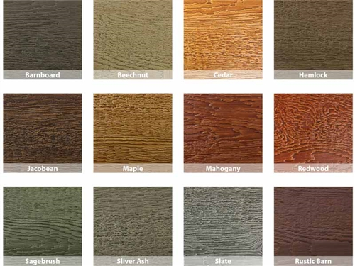 KWP Eco-side, Pre-Finished Lap Siding - Stain Colors