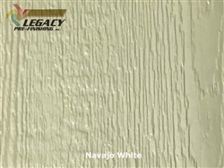 KWP Eco-side, Pre-Finished Woodgrain Panel Siding - Navajo White