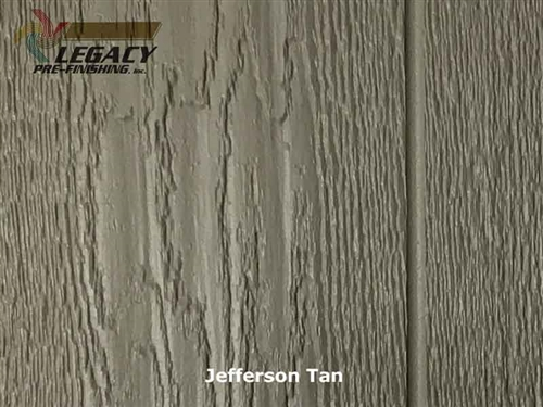 KWP Eco-side, Pre-Finished Shake Panel Siding - Jefferson Tan