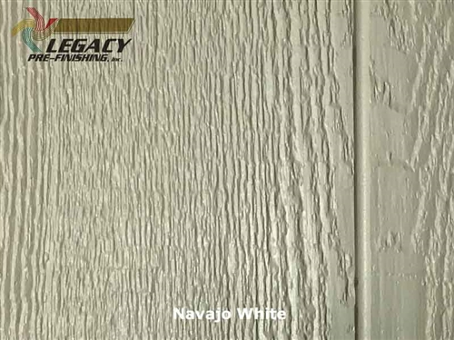 KWP Eco-side, Pre-Finished Shake Panel Siding - Navajo White