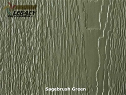 KWP Eco-side, Pre-Finished Shake Panel Siding - Sagebrush Green