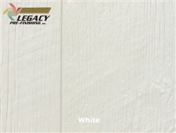 Prefinished LP SmartSide, Cedar Shake Panel - White