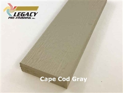 Prefinished LP Smartside Engineered Wood Trim - Cape Cod Gray