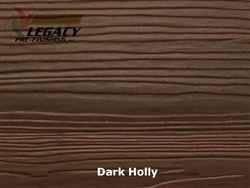 Nichiha, Pre-Finished Fiber Cement Cedar Lap Siding - Dark Holly Stain