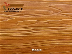 Nichiha, Pre-Finished Fiber Cement Cedar Lap Siding - Maple Stain