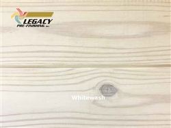 Southern Yellow Pine Prefinished Tongue and Groove V-Joint Paneling - Whitewash