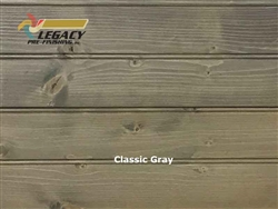 Spruce Prefinished Tongue and Groove Edge/Center Bead Paneling - Classic Gray