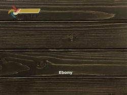 Spruce Prefinished Tongue and Groove Edge/Center Bead Paneling - Ebony