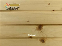Spruce Prefinished Tongue and Groove Edge/Center Bead Paneling - Natural Stain