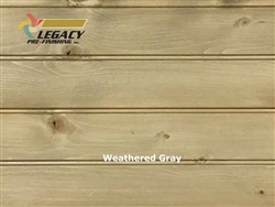 Spruce Prefinished Tongue and Groove Bead Board - Weathered Gray