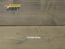 Spruce Prefinished Tongue And Groove Siding V-Joint Paneling - Classic Gray