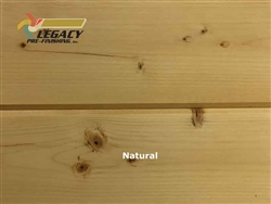 Spruce Prefinished Tongue and Groove V-Joint Boards - Natural Stain